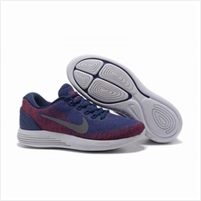 NIKE LUNARGLIDE 9 FLASH BLUE RED