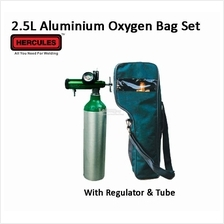 Hercules Medical Gas Regulator 2.5L Aluminium Oxygen Bag Set