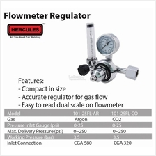 Hercules Gas Regulator Argon / CO2 Flowmeter