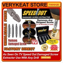 As Seen On TV Speed Out Damaged Screw Extractor Use With Any Drill