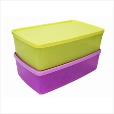 Tupperware Snowflake Double Square Round (2) 1.3L