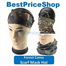 Multi Purpose Camo Hiking Scarf Face Mask Dry Hat Cap Cycling Headband