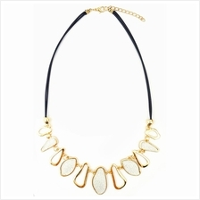 YOUNIQ-Basic Eve Diamante White Geometric Statement Necklace