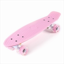 22 INCHES MINI CRUISER BANANA STYLE LONGBOARD PASTEL COLOR FISH SKATEBOARD WIT