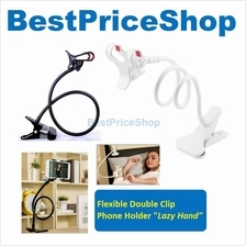 Metal Lazy Hand Double ClipFlexible Mobile Phone Holder Car Bed Table