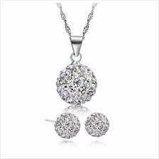 YOUNIQ Korean Fashion 925S Silver Swarovski Elements Necklace (White)