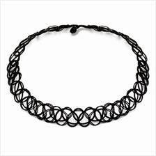 YOUNIQ-Basic Korean Taatoo Simple Black Choker