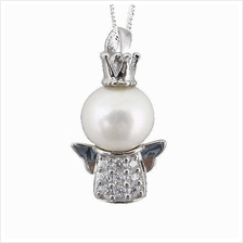 YOUNIQ Pearl Angel 925 Sterling Silver Necklace Pendant