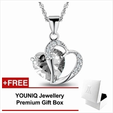 YOUNIQ Aegean Love 925 Sterling Silver Necklace Pendant with White CZ