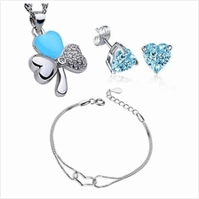 YOUNIQ Lucky Love 925 S.Silver Pendant Necklace, Earrings & Bracelet