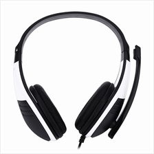 FE - 118 3.5MM PLUG COMPUTER GAMING HEADSET STEREO HEADPHONES (WHITE)