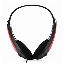 FE - 121 3.5MM DEEP BASS AUDIO PC GAMING HEADSET DRIVE-BY-WIRE HEADPHONES (RED