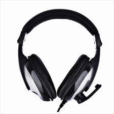 T155 3.5MM DEEP BASS AUDIO PC GAMING HEADSET OVER-EAR HEADPHONES WITH MIC (GRA