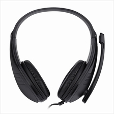FE - 118 3.5MM PLUG COMPUTER GAMING HEADSET STEREO HEADPHONES (BLACK)