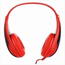 FE - 115 3.5MM DEEP BASS AUDIO PC GAMING HEADSET DRIVE-BY-WIRE HEADPHONES (RED