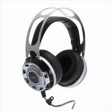 VIRTUAL SURROUND SOUND USB GAMING HEADSET WITH MICROPHONE LED LIGHT (BLACK)