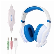 ANTI-NOISE COLORFUL LIGHT STEREO 3PCS 3.5MM USB PLUG GAMING HEADPHONES HEADSET