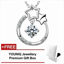 YOUNIQ Stary Eyes 925 Sterling Silver Necklace Pendant Cubic Zirconia
