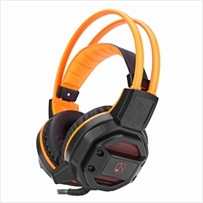 GX1 ANTI-NOISE STEREO 3PCS 3.5MM USB PLUG GAMING HEADSET (ORANGE)