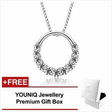 YOUNIQ D'Lord 925 Sterling Silver Necklace Pendant with Cubic Zirconia