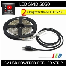 USB 5V 1 2 3 Meter RGB 5050 LED Strip with RGB Control Button