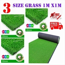 3 Size 15MM/ 25MM/ 35MM Artificial Fake Synthetic Grass 1M X 1Meter)