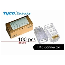 RJ45 Connector Network for Cat5 Cat5e (100Pieces)