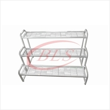 3 LAYER WHITE COLOR IRON STAND MULTI LEVEL FLOWER POT PLANTS RACK