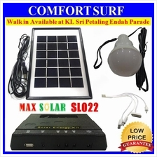 MaxSolar SL022 Solar Powered Lighting System LED Kit 4X Port + USB