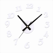 SANGTAI6168S CREATIVE 3D MUTE DIY DIGITAL WALL CLOCK DECORATIVE (WHITE)