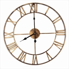 18.5 INCH OVERSIZED 3D IRON DECORATIVE WALL CLOCK RETRO ROMAN