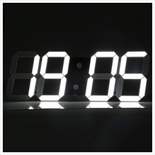 REMOTE CONTROL BIG LED DIGITAL WALL CLOCK STOPWATCH THERMOMETER (BLACK EU PLUG