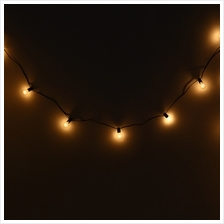 E12 G40 STRING LIGHTS WITH 25 GLOBE BULBS BACKYARD LIGHTING
