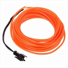 3V FLEXIBLE LED NEON LIGHT GLOW EL WIRE STRIP (ORANGE, 1M/3M/5M)