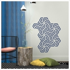 WALLSTICKERS POLYGON GEOMETRY PATTERN