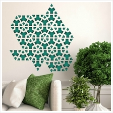 WALLSTICKERS GREEN TRIANGLE GEOMETRY PATTERN