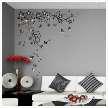 BLACK BUTTERFLIES VINE WITH 38PCS AUTHENTIC SWAROVSKI ELEMENTS