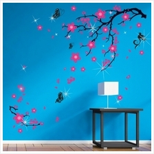 PLUM BLOSSOM WITH 38PCS AUTHENTIC SWAROVSKI ELEMENTS
