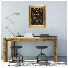 GOLD FRAME STICKER C\u2019EST LA VIE QUOTE