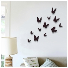 WALPLUS 3D BUTTERFLIES IN BLACK