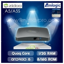 ZIDOO A5 A5S TV BOX S905X Quad Core 1GB/2GB Ram 8GB/16GB Rom Android 6