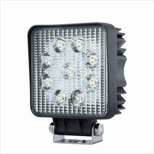 27W 9 LED Work Drive Light Square Flood/ Spot Beam for Jeep Truck Boat