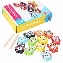Kids Early Education Wooden Toys Owl (Numbers) Age 3+