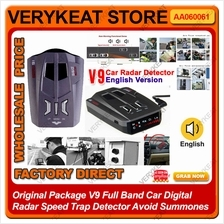 V9 Full Band Car Digital Radar Speed Trap Detector Avoid Summones