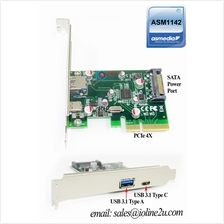 PCIe to USB3.1 Type-A Type-C Host Controller 10Gbps ASmedia ASM1142 USB 3.0 PC