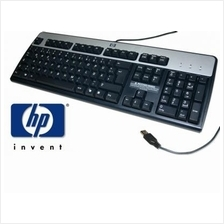 New Ori HP KU-0316 USB WIRED KEYBOARD 104 KEYS BLACK/SILVER 434821-002