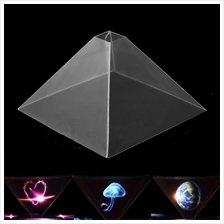 3pcs Portable 3D Holographic Display Pyramid Projector for Phone