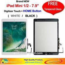 APPLE iPad Mini 1/2 (7.9') Touch Screen Digitizer + Tempered Glass