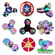Tri-Spinner Toy Fidget Spinner LED Rainbow Ironman Captain America