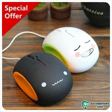 Smiley face emoticon USB optical computer mouse